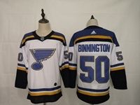 Mens Nhl St.louis Blues #50 Jordan Binnington White Adidas Jersey