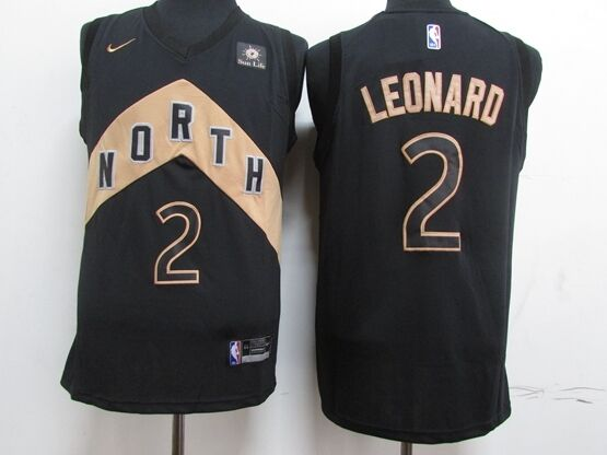 Mens Nba Toronto Raptors #2 Kawhi Leonard Black Nike City Edition Player Jersey