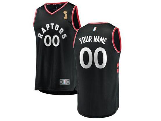 Mens Women Youth 2019 Nba Finals Champions Toronto Raptors Current Player Black Statement Edition Jersey