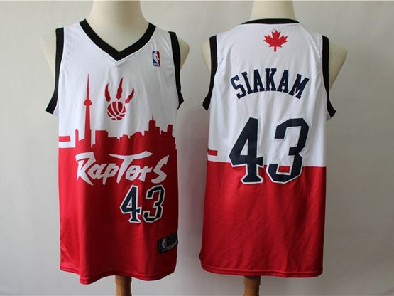 Mens 2019 New Toronto Raptors #43 Pascal Siakam Red & White City Edition Dna Jersey