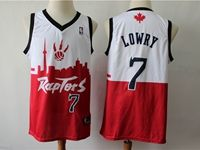 Mens 2019 New Toronto Raptors #7 Kyle Lowry Red & White City Edition Dna Jersey