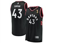 Mens 2019 Nba Finals Champions Toronto Raptors #43 Pascal Siakam Black Statement Edition Jersey