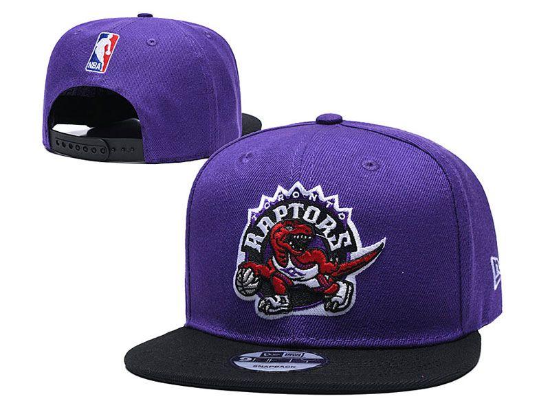 Mens Nba Toronto Raptors Snapback Adjustable Hats New Era Pruple