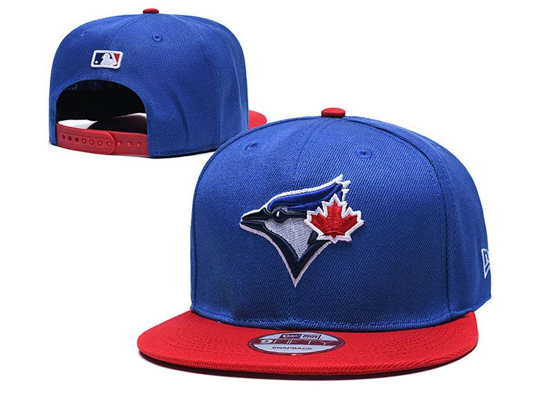 Mens Mlb Toronto Blue Jays Snapback Adjustable Hats New Era Blue With Red