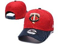 Mens Mlb Minnesota Twins Adjustable Hats New Era Red