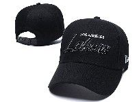 Mens Nba Los Angeles Lakers Adjustable Hats New Era Full Black
