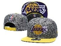 Mens Nba Los Angeles Lakers Snapback Adjustable Hats New Era Gray With Yellow