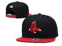 Mens Mlb Boston Red Sox  Snapback Adjustable Hats New Era Black With Red
