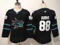 Women Youth Adidas Nhl San Jose Sharks #88 Brent Burns Blank Alternate Black Jersey