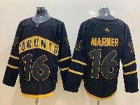 Mens Nhl Toronto Maple Leafs #16 Mitchell Marner Toronto Black Adidas Jersey
