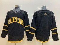 Mens Nhl Toronto Maple Leafs Leafs Blank Toronto Adidas Black Jersey