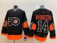 Mens Philadelphia Flyers #14 Sean Couturier Black Alternate Adidas Jersey