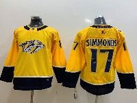 Youth Nhl Nashville Predators #17 Wayne Simmonds Gold Adidas Jersey