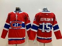 Youth Montreal Canadiens #15 Jesperi Kotkaniemi Red Home Premier Adidas Jersey