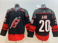 Mens Nhl Carolina Hurricanes #20 Sebastian Aho Black Alternate Adidas Premier Jersey