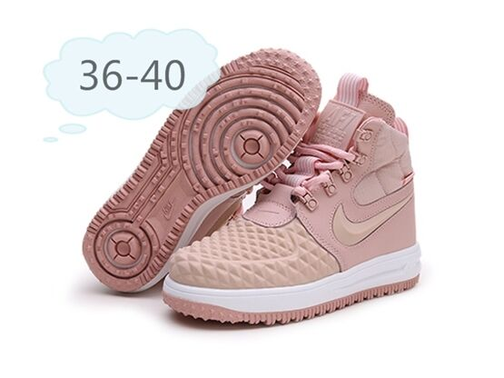Women Nike Air Force 1 Af1 Boots Shoes Pink Colour