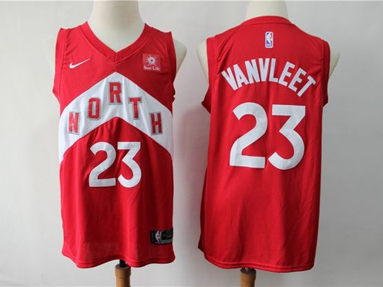 Mens 2018-19 Nba Toronto Raptors #23 Fred Vanvleet Red Playoff Award Edition Nike Swingman Jersey