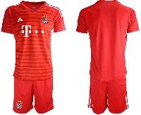 Mens 19-20 Soccer Bayern Munchen ( Blank ) Red Home Short Sleeve Suit Jersey