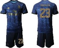 Mens 19-20 Soccer Real Madrid Club #23 Reguilon Blue Second Away Short Sleeve Suit Jersey