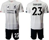 Mens 19-20 Soccer Liverpool Club #23 Shaqiri White Away Short Sleeve Suit Jersey