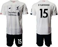 Mens 19-20 Soccer Liverpool Club #15 Sturridge White Away Short Sleeve Suit Jersey