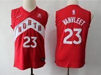 Youth 2018-19 Nba Toronto Raptors #23 Fred Vanvleet Red Playoff Award Edition Nike Swingman Jersey