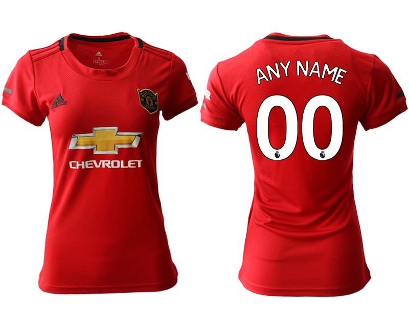 Women 19-20 Soccer Arsenal Club ( Custom Made ) Red Home Short Sleeve Jersey
