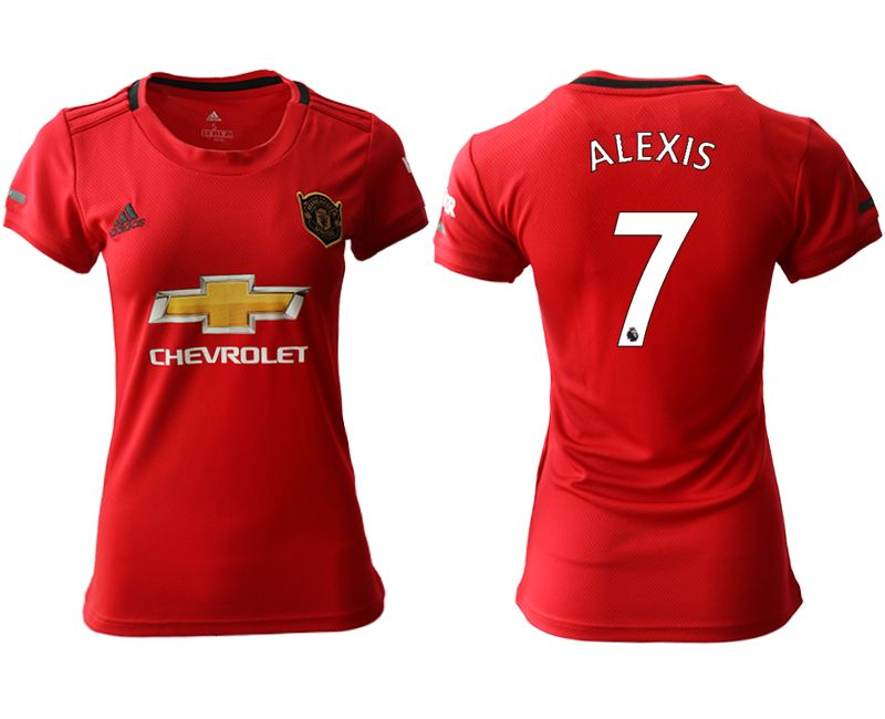 Women 19-20 Soccer Arsenal Club #7 Alexis Red Home Short Sleeve Jersey