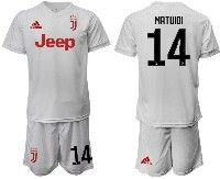 Mens 19-20 Soccer Juventus Club #14 Matuidi White Away Short Sleeve Suit Jersey