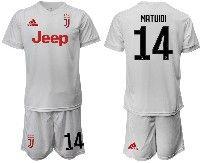 Mens 19-20 Soccer Juventus Club #14 Matuidi White Away Short Sleeve Suit Jersey
