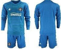 Mens 19-20 Soccer Atlanta United Club Custom Made Blue Stripe Long Sleeve Suit Jersey