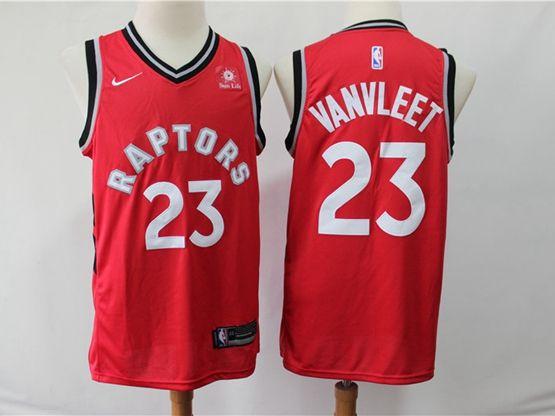 Mens 2018-19 Nba Toronto Raptors #23 Fred Vanvleet Red Nike Swingman Player Jersey