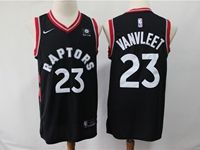 Mens 2018-19 Nba Toronto Raptors #23 Fred Vanvleet Black Nike Swingman Player Jersey