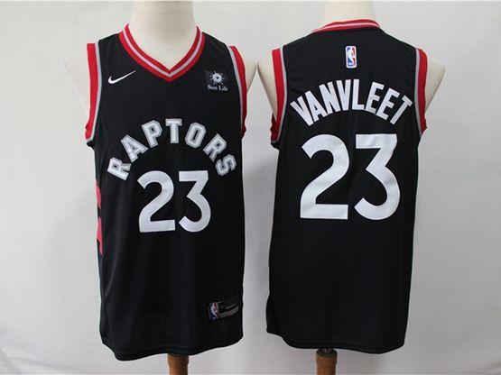 Mens 2018-19 Nba Toronto Raptors #23 Fred Vanvleet Black Nike Swingman Player Jersey