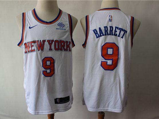 Mens New Season Nba New York Knicks #9 R.j. Barrett White Swingman Nike Jersey
