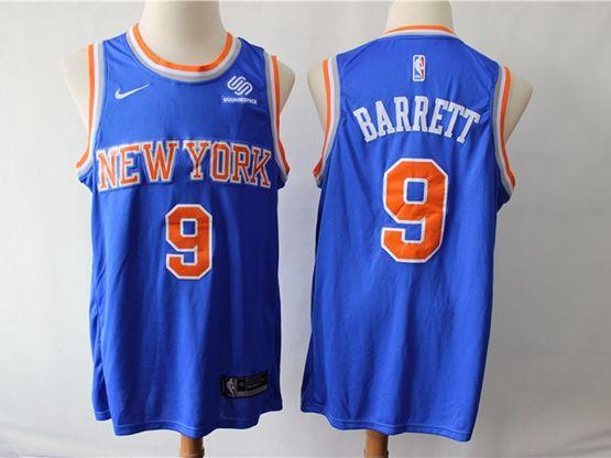 Mens New Season Nba New York Knicks #9 R.j. Barrett Blue Swingman Nike Jersey