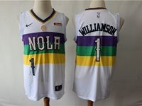 2019 Mens New Orleans Hornets #1 Williamson White City Edition Jersey
