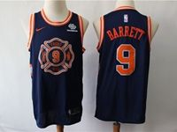 Mens New Season Nba New York Knicks #9 R.j. Barrett Dark Blue City Edition Swingman Nike Jersey