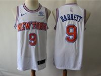 Mens New Season Nba New York Knicks #9 R.j. Barrett White Hardwood Classics Nike Swingman Jersey