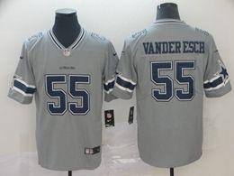 Mens Nfl Dallas Cowboys #55 Leighton Vander Esch Gray Nike Inverted Legend Vapor Untouchable Limited Jersey