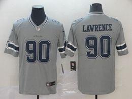 Mens Nfl Dallas Cowboys #90 Demarcus Lawrence Gray Nike Inverted Legend Vapor Untouchable Limited Jersey