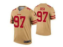 Mens Nfl San Francisco 49ers #97 Nick Bosa Gold Nike Inverted Legend Jersey