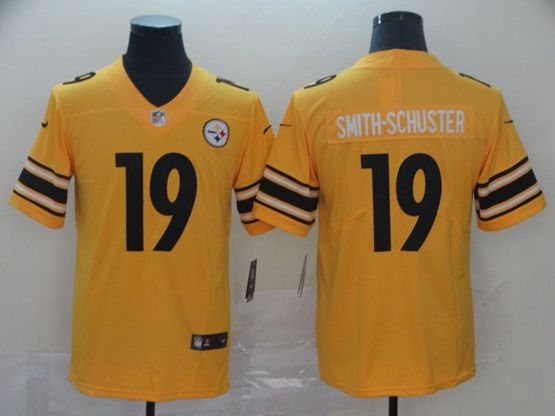 Mens Nfl Pittsburgh Steelers #19 Juju Smith-schuster Gold Nike Inverted Legend Vapor Untouchable Limited Jersey