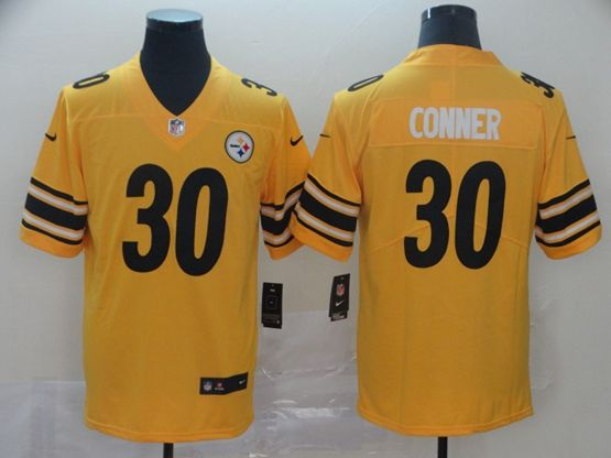 Mens Nfl Pittsburgh Steelers #30 James Conner Gold Nike Inverted Legend Vapor Untouchable Limited Jersey