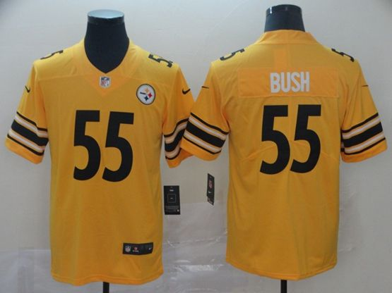 Mens Women Youth Nfl Pittsburgh Steelers #55 Devin Bush Gold Nike Inverted Legend Vapor Untouchable Limited Jersey