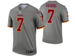 Mens Nfl Washington Redskins #7 Haskins Jr Gray Nike Inverted Legend Jersey