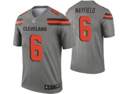 Mens Nfl Cleveland Browns #6 Baker Mayfield Gray Nike Inverted Legend Jersey