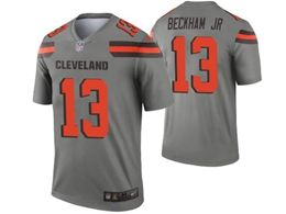 Mens Nfl Cleveland Browns #13 Odell Beckham Jr Gray Nike Inverted Legend Jersey