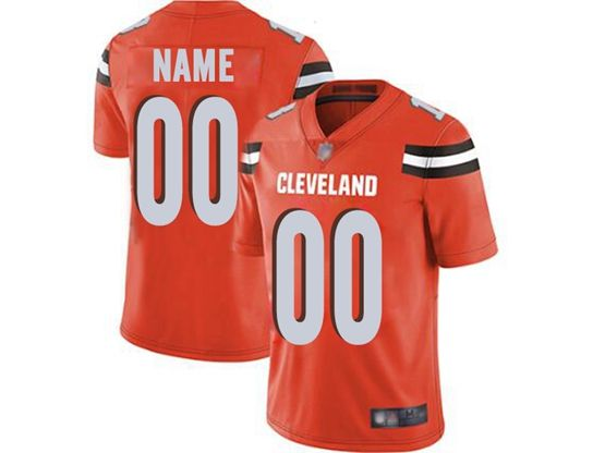 Mens Women Youth Nfl Cleveland Browns Orange Custom Made Vapor Untouchable Limited Jersey