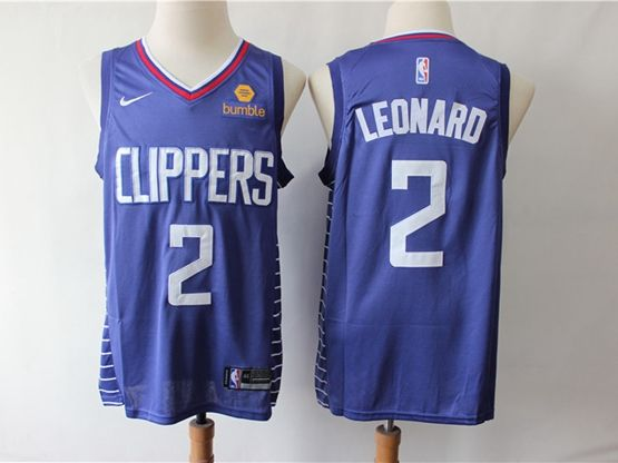 Mens Nba Los Angeles Clippers #2 Kawhi Leonard Blue Swingman Jersey